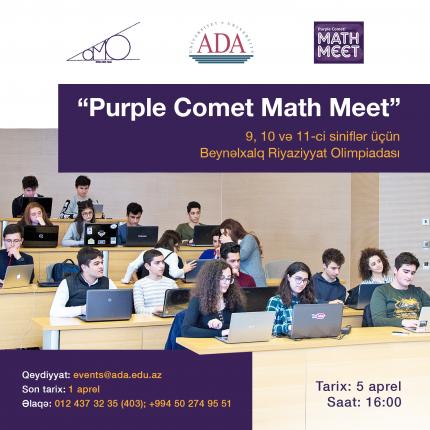 """Beynəlxalq """"Purple Comet Math Meet"""" Riyaziyyat Olimpiadası"""