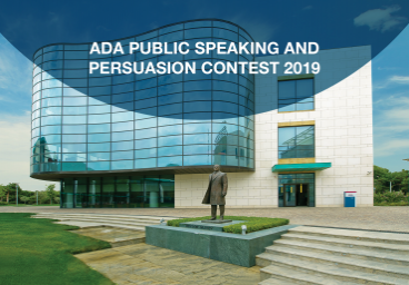 ADA Public Speaking and Persuasion Contest 2019
