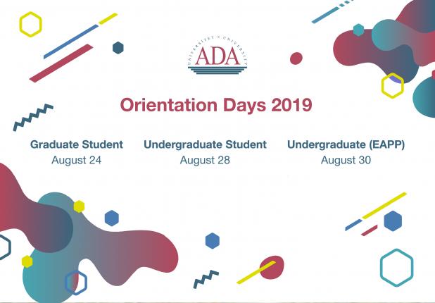 Graduate and undergraduate Orientation days