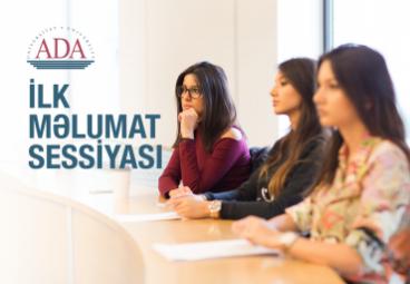 ADA Universitetində magistratura proqramları üzrə ilk məlumat sessiyası