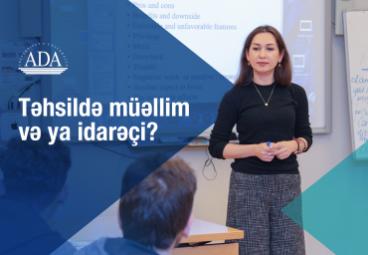 ADA Universiteti Pedaqogika üzrə yeni magistr proqramını təqdim edir