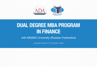 Launch event: Dual Degree MBA Program in Finance with MGIMO University