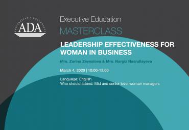 "Master Class Alert: ""Leadership Effectiveness for Women in Business"""