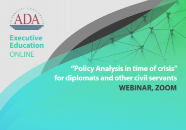 Webinar alert: Policy Analysis in time of crisis'' by Dr. Anar Valiyev