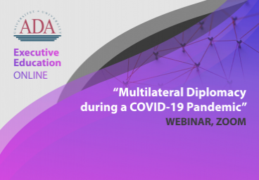 Book your spot for webinar: Multilateral diplomacy during a COVID-19 pandemic