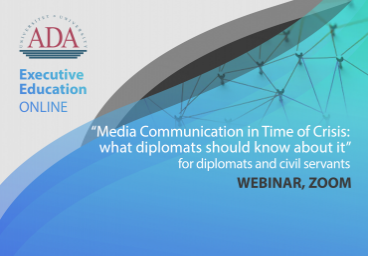 Join our next webinar: Media Communication in time of crisis: what diplomats should know about it