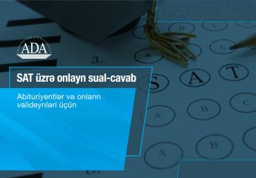 SAT üzrə onlayn sual-cavab sessiyası