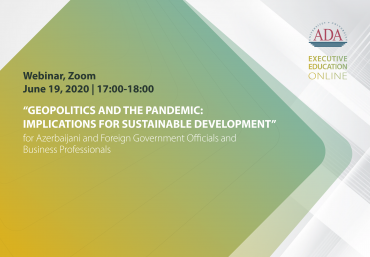Next webinar: Geopolitics and the Pandemic: Implications for Sustainable Development
