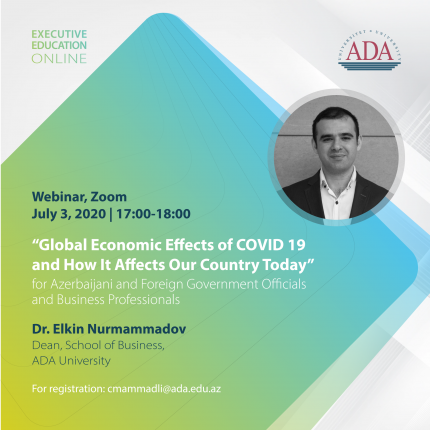 Webinar alert: Global economic effects of COVID-19 and how it affects our country today