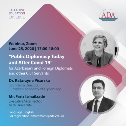 "Upcoming Webinar: ""Public Diplomacy Today and After COVID-19"""