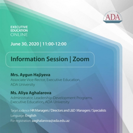Executive Education Online Information Session via Zoom
