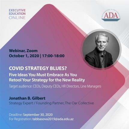 Executive Education invites ADA University Partners to the new webinar: NEW POST-COVID STRATEGY BLUES?