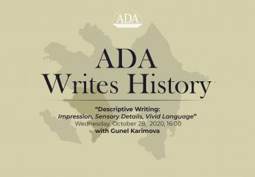 Next Workshop: Descriptive Writing: Impression, Sensory Details, Vivid Language