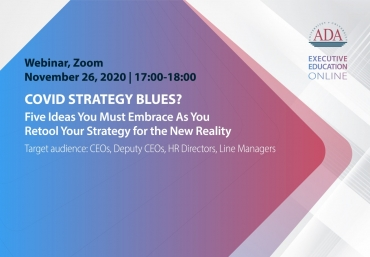 New Webinar: COVID Strategy Blues? Five Ideas You Must Embrace As You Retool Your Strategy for the New Reality