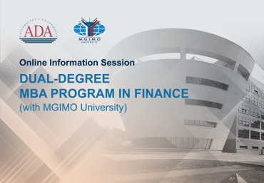 Online Information Session on Dual-degree MBA Program in Finance by ADA University and MGIMO University
