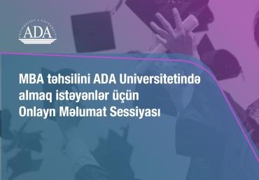ADA Universitetinin MBA proqramı üzrə onlayn İnformasiya sessiyası