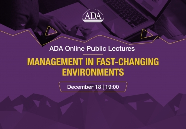 Online lecture with Adjunct Professor of ADA University, CEO of Gilan Holding