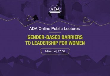 ADA Online Public Lecture: Gender-Based Barriers to Leadership for Women
