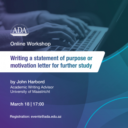Online Workshop: writing a statement of purpose or motivation letter for further study