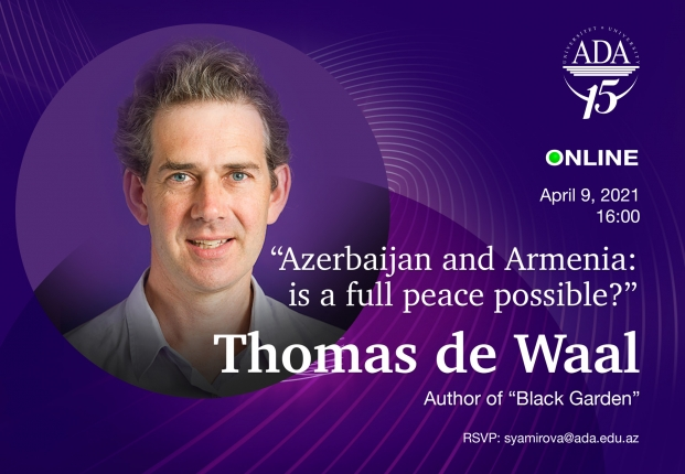 """Online  discussion with Thomas De Wall, author of """"Black Garden"""" book"""