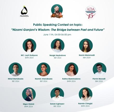 Public Speaking Contest on Nizami Ganjavi's wisdom