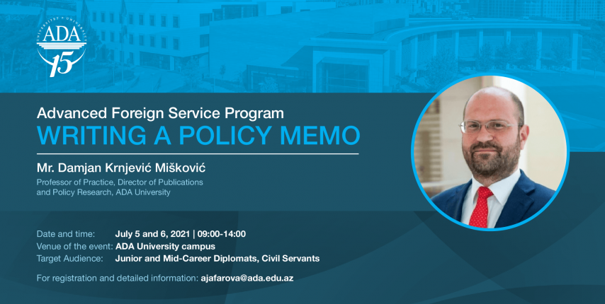 Upcoming AFSP course: Writing a Policy Memo