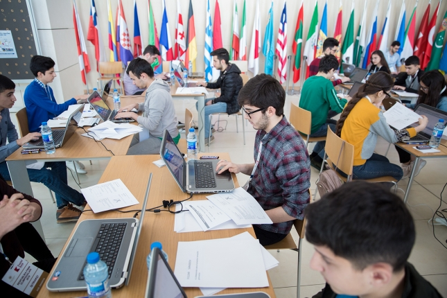 The Final round of Republican Olympiad in Informatics held at ADA University