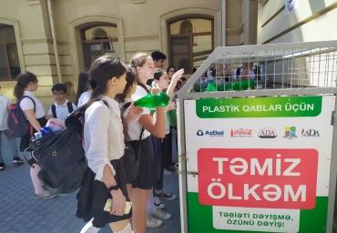 """""""Temiz Olkem"""" project increases eco-awareness among school students of capital Baku"""