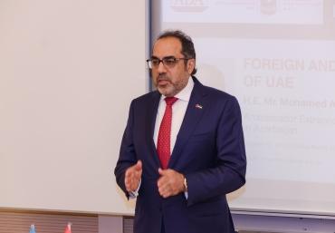 UAE Ambassador Mr. Mohamed Ahmed Al Qubaisi delivered a lecture at ADA University
