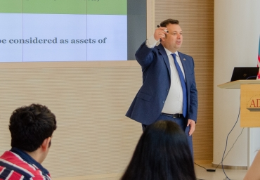 """""""Learn Accounting in 3 hours"""" run by Elchin Ibadov at ADA University"""