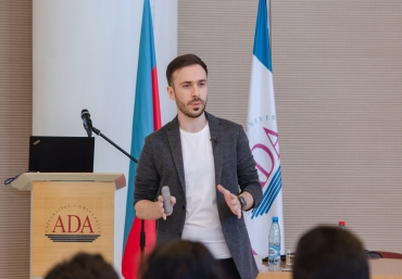 ADA University alumnus Orkhan Ahmadli conducted on-campus recruitment in Energy Management and Automation