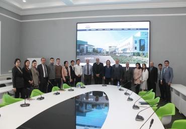 Dr. Vafa Kazdal delivered a lecture at University of World Economy and Diplomacy (Uzbekistan).