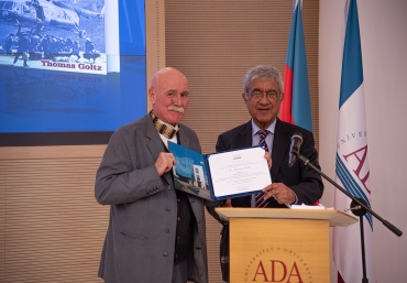 American analyst Thomas Goltz received honorary doctorate from ADA  University