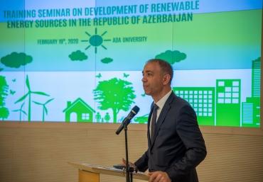"ADA University hosted ""Development of Renewable Energy Sources in the Republic of Azerbaijan"" training seminar"