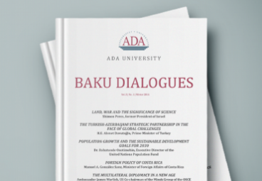 "Call for articles for our new journal: The ""Baku Dialogues"" journal of ADA University"