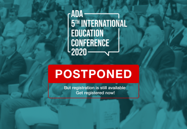 ADA 2020 - 5th International Education Conference was postponed