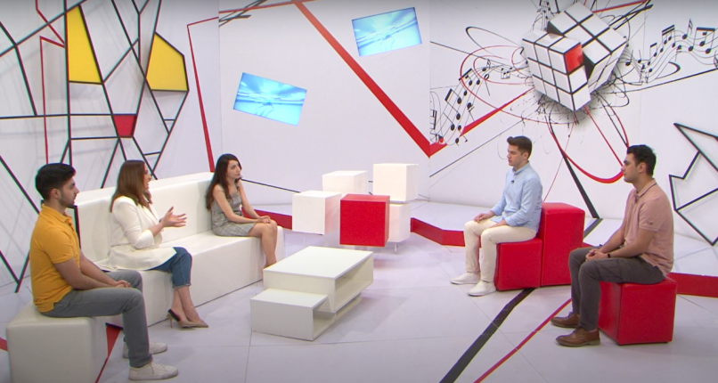 ADA University students and instructors appeared on TV