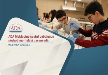 ADA Məktəbi 2020-2021-ci tədris ili üzrə İngilis dili bölməsinə sənəd qəbulu elan edir.