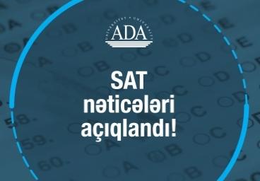 SAT üzrə qəbul nəticələri açıqlandı