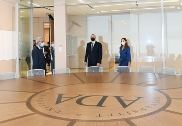 President Ilham Aliyev and First Lady Mehriban Aliyeva attended opening of two new facilities of ADA University
