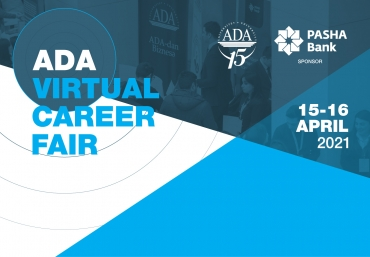 ADA University to host Virtual Career Week, April 15 – April 16, 2021