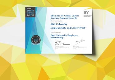 ADA University's Virtual Employability Week and Career Fair received the International Award